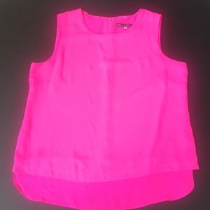 Tops - Hot pink tank top (100% polyester)